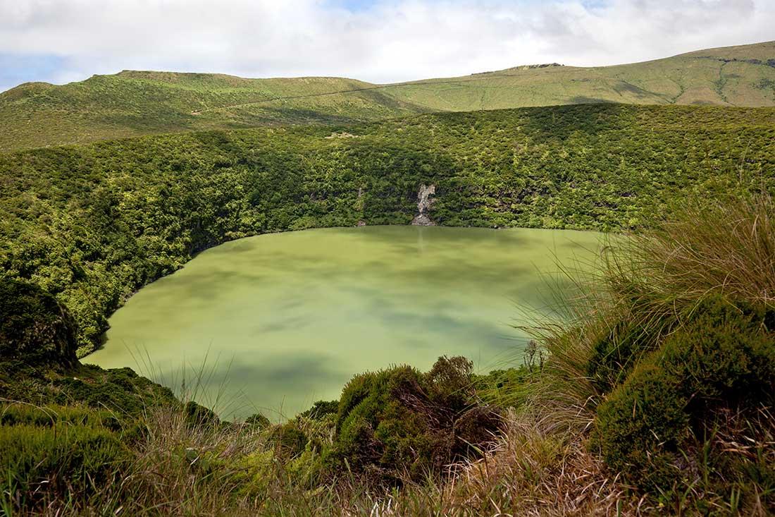 Lagoa Funda en la Isla de Flores