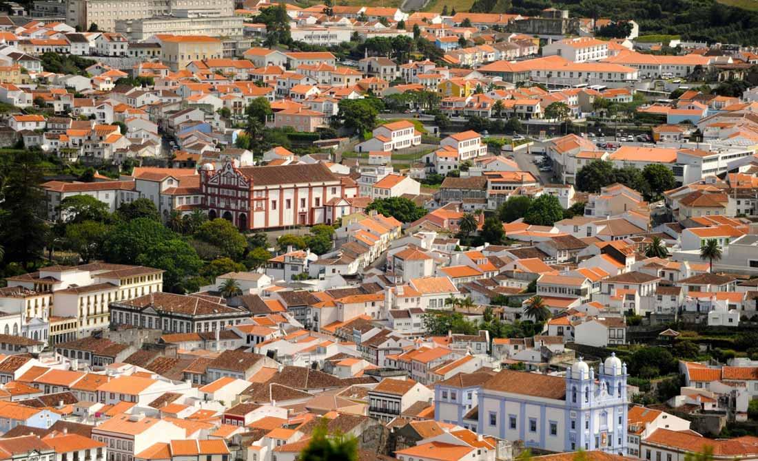 Angra do Heroísmo en la isla de Terceira