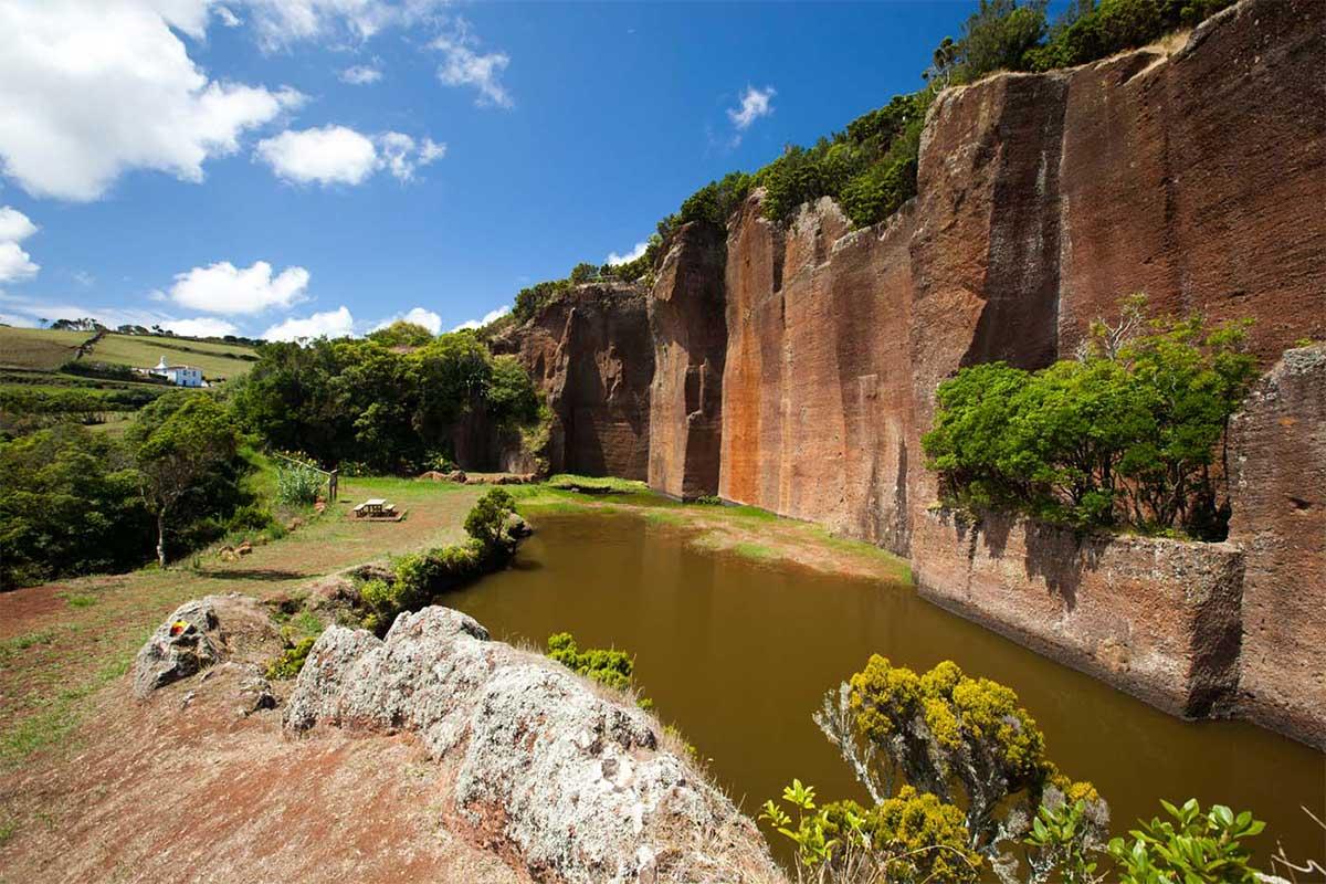 Poço Pedreira en la isla de Santa María