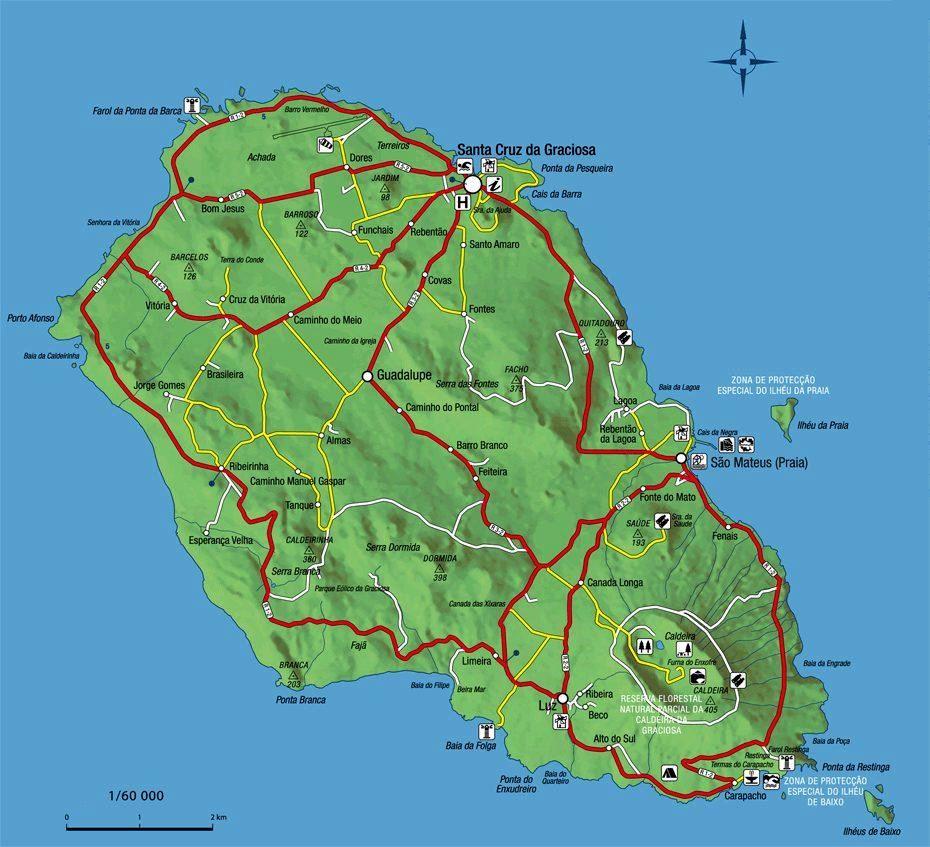 Mapa de la isla de Graciosa