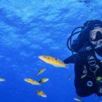 Bautismo de buceo en la isla de Santa María